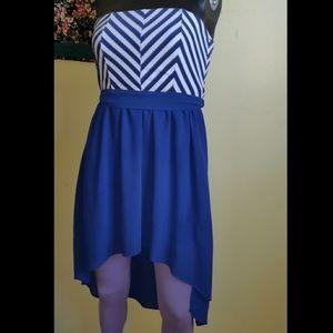 Iris Los Angeles Tube Dress Sheer high-low chevron